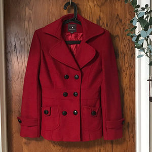 Red Peacoat Forever 21